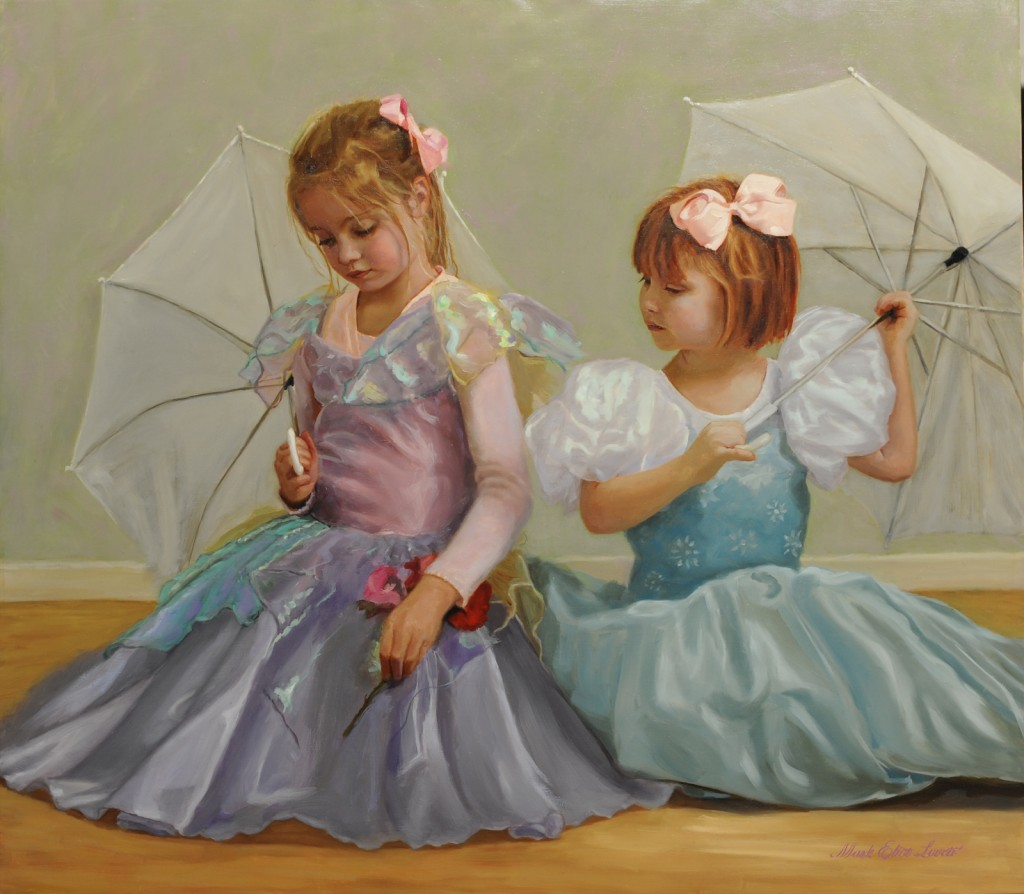 Beautiful children oil paintings by Mark E. Lovett, commission portrait painter fine artist  serving Maryland, Virginia and DC.