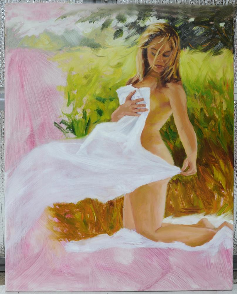 Female Figure Oil Painting Process