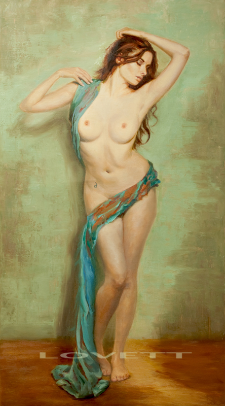 "eratos_20x36"" oil on linen by Mark Lovett Studio"